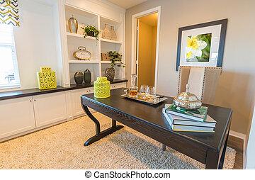 habitación, oficina, bien, interior, hogar, designado