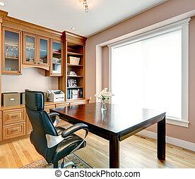 habitación, oficina, simple, elegante, interior, todavía