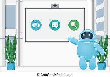 habitación, presentación, bot, services., cognoscitivo, ...