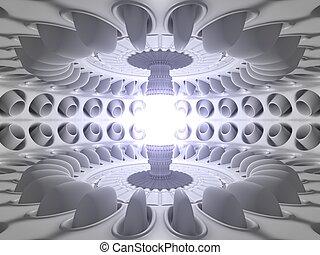 habitación, reactor, núcleo