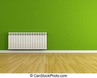 habitación vacía, radiador
