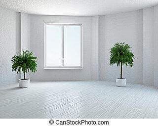 habitación vacía, ventana