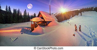 Habitation of shepherds. - Wild Carpathian unique hrebet-...