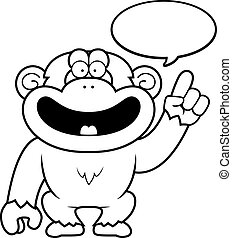 Hablar, caricatura, chimpancé