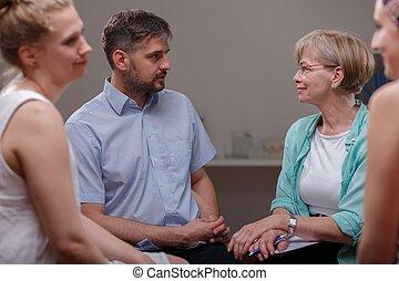 hablar, pacientes, psicólogo
