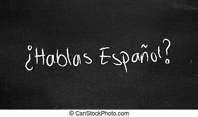 hablas, espanol?