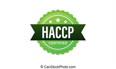 HACCP Certified icon on white background. stock illustration