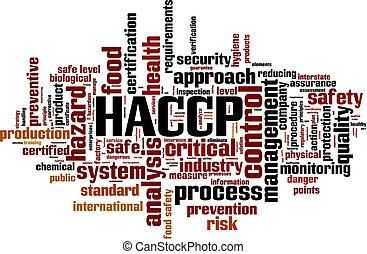 haccp, palavra, nuvem