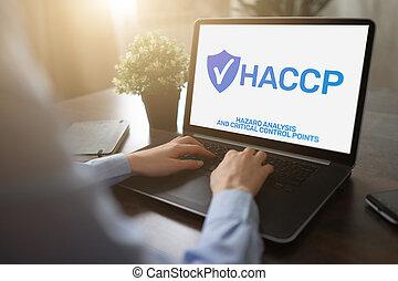 haccp, -, peligro, análisis, y, crítico, control, point., estándar, y, certificación, control de calidad, dirección, reglas
