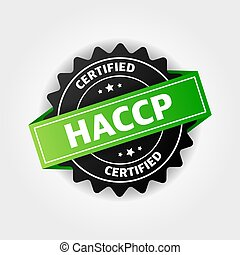 HACCP stamp vector isolated on white background.