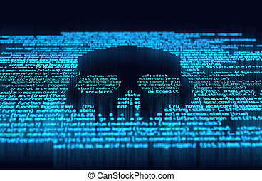 hacher, ligne, numérique, crime