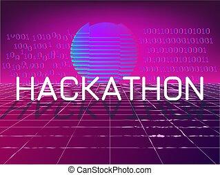 hackathon, banner, ereignis
