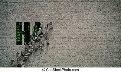 Hacked Crumbling Wall Code Matrix - Crumbling wall revealing...
