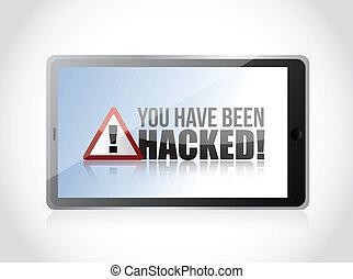 hacked, tabuleta, -, sido, sinal, ter, tu