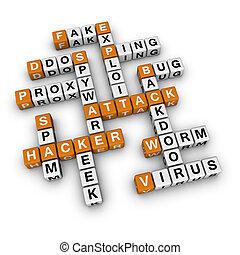 hacker aattack - hacker attack  (3D crossword orange series)