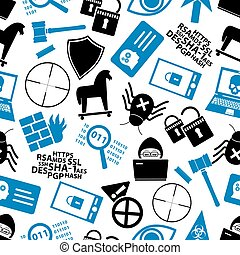 hacker and computer security theme icons seamless pattern eps10