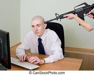 hacker, apreensão, escritório