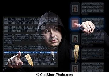 hacker, arbeitende