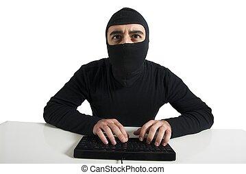 hacker, begriff, virus, edv