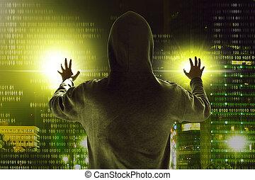 hacker, data, stöld