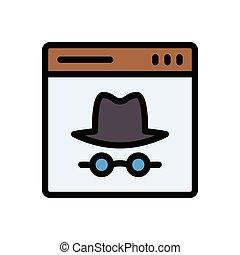 hacker flat color icon