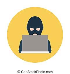 hacker flat icon