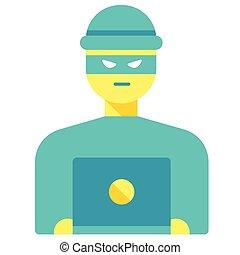 Hacker flat illustration