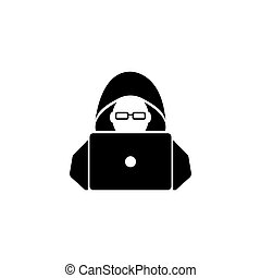 Hacker Flat Vector Icon