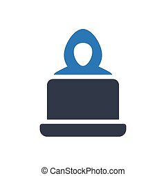hacker glyph color icon