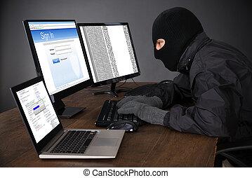 Hacker Hacking Computers