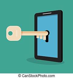 Hacker hacking smartphone.