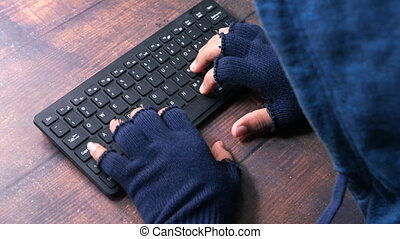 hacker hand stealing personal data, close up - hacker hand ...
