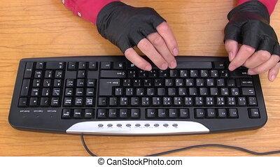 hacker  hands on keyboard