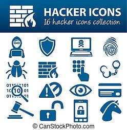hacker, heiligenbilder
