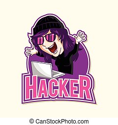 hacker illustration design
