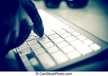 Hacker in Work