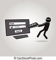 Hacker, Internet security concept.