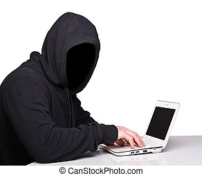 hacker, isolado