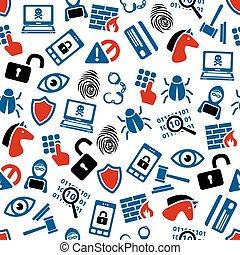 hacker, mönster, seamless