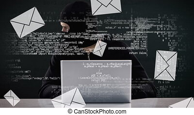 Hacker messing with emails and codes