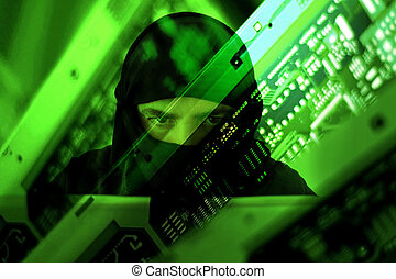 Hacker muslim terrorist attack from laptop - Hacker muslim ...