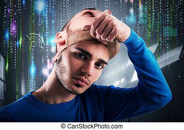 hacker, nastolatek