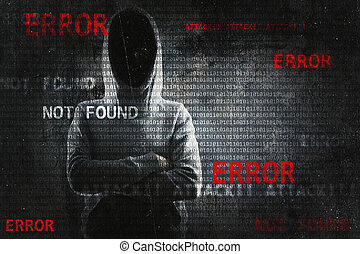 Hacking and criminal concept