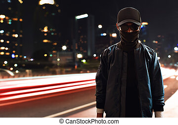 Hacker on the street
