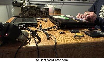 Hacker Opening A Laptop