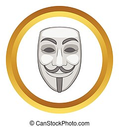 Hacker or anonymous mask vector icon