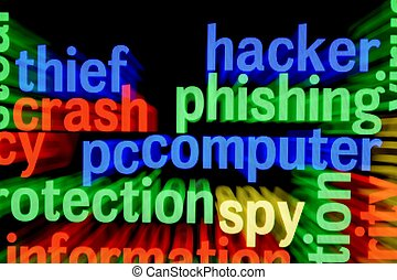 Hacker phishing computer
