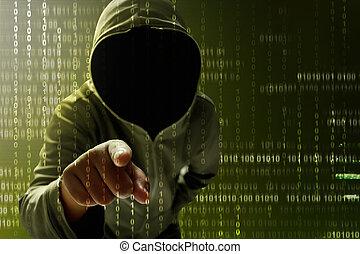 hacker, procurar, dados
