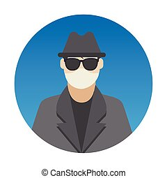 Hacker Professions Avatar with Face Mask Color Vector icon which can easily modify or edit