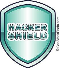 Hacker Shield Vector Icon